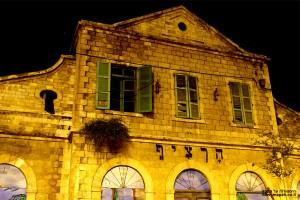 חזית תחנת הרכבת הראשונה של ירושלים - צילום לילה: אפי אליאן