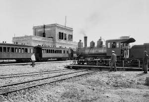 תחנת הרכבת של ירושלים בפעילותה בשנת 1914 - מקור: Library of Congress
