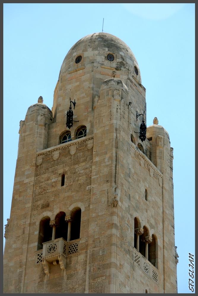 ראש מגדל הפעמונים במתחם YMCA ירושלים - צילום: אפי אליאן
