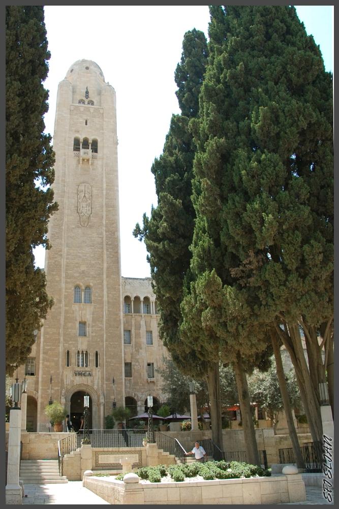"""12 הברושים ומגדל ימק""""א ירושלים - צילום: אפי אליאן"""