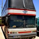 אוטובוס הקומתיים שהובא לראשונה לישראל ב1989 - צילום: אפי אליאן