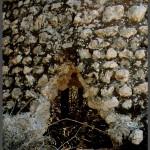 חריץ בכיפת קבר השיח בעזריקם