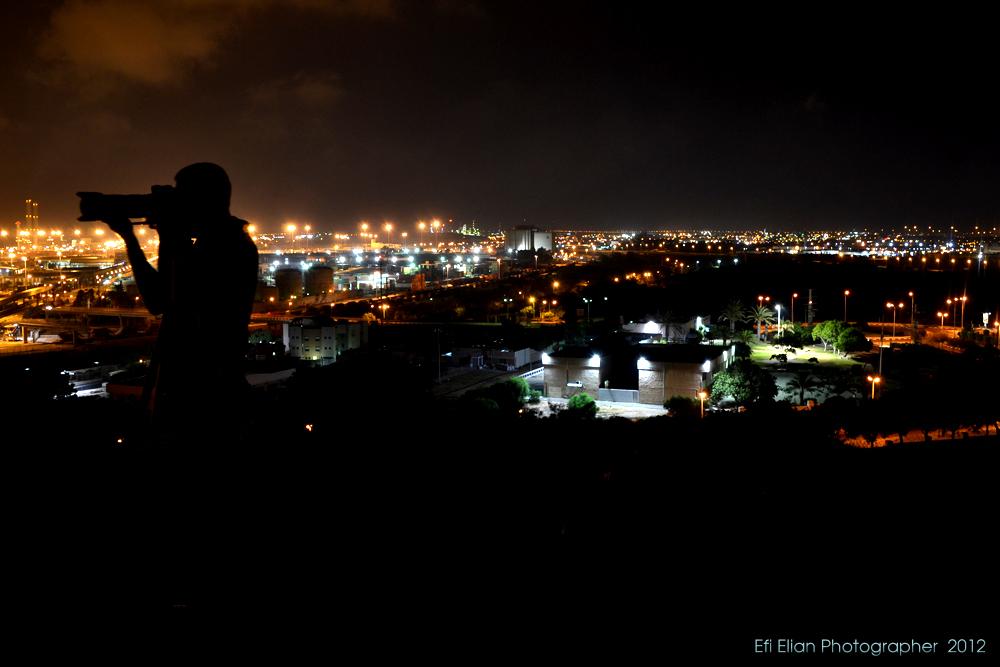 מבט לעבר צפון מזרח העיר אשדוד - איזור התעשיה - צילום: אפי אליאן
