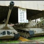 """הכניסה לשדירת תצוגת טנקי השלל של מוזיאון בתי האוסף של צה""""ל"""