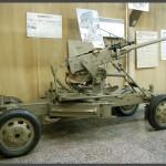 """תותח נגד מטוסים נגרר במוזיאון בתי האוסף של צה""""ל"""