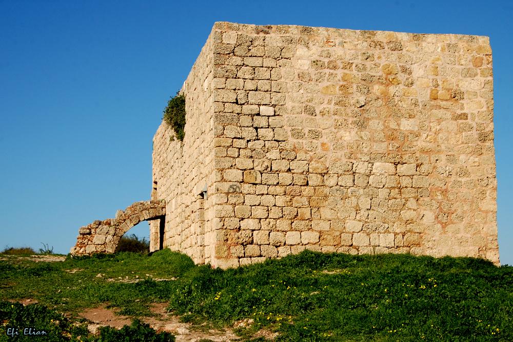 המבנה של ח'רבת סמארה מכיוון מזרח למערב