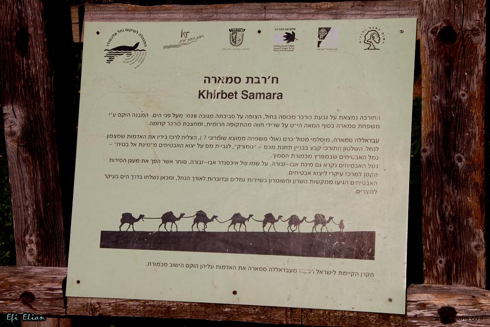 מידע אודות חירבת סמארה שבשמורת הטבע