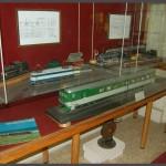 דגמי רכבות בקני מידה שונים במוזיאון הרכבת בחיפה