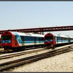 שני מערכי רכבת מודו מתוצרת ספרד בשירות רכבת ישראל