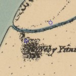 """גבעת """"נבי יוניס"""" לפי מפה משנת 1880 - צילום מסך מהאתר עמוד ענן"""