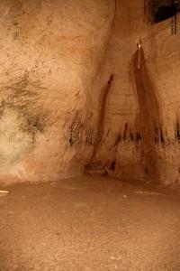 מערת פעמון עם סימני חדירת המים בגן הלאומי בית גוברין