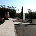 החניון והכניסה לאנדרטת הזכרון של אסון המסוקים