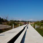 הדרך המובילה לעבר בריכת המים באתר הזכרון