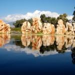 גן הסלעים והבריכה באתר זכרון לאסון המסוקים