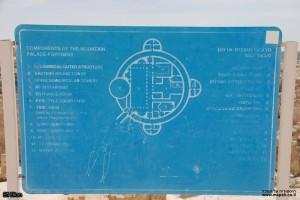 מפת תרשים המתארת את אופן ארמונו של הורדוס