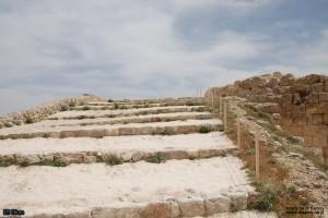 המדרגות העולות לחומה העליונה של ההרודיון