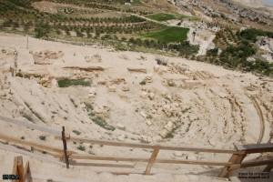 אמפי שנחשף במהלך חפירות ארכיאולוגיות מזרחית להרודיון