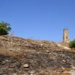 הצריח על חלקו הגבוה של תל יבנה