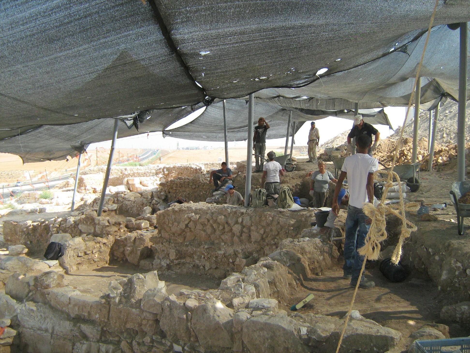 צילום החפירה הארכיאולוגית: ניר שמשון פארן, באדיבות רשות העתיקות