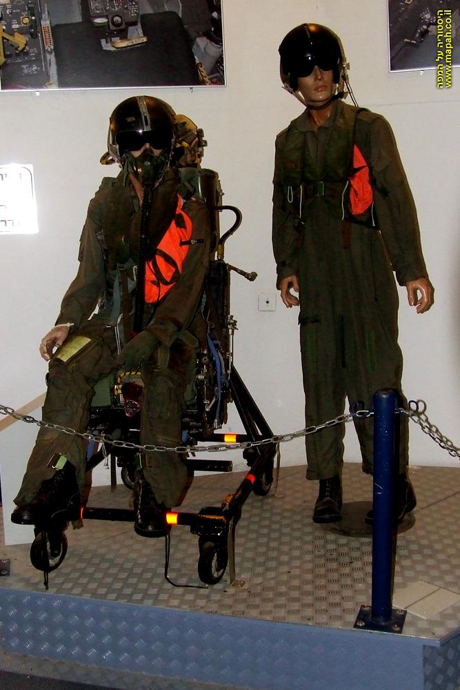 בובות מולבשות בסרבלי טיסה המשמשות טייסי קרב