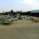שורות המטוסים ברחבת מוזיאון חיל האויר חצרים