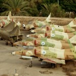 מטוסי העיט , סקייהוק שהוצאו משירות ומונחים בסמוך למוזיאון חיל האויר