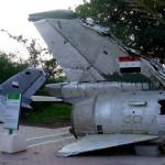 זנב מטוס מצרי שהופל במהלך מלחמות ישראל