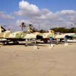 שורת מטוסי הכפיר במוזיאון חיל האויר חצרים