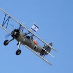 מטוס הסטירמן של מוזיאון חיל האויר חצרים במעוף