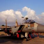 מטוס F15 של חיל האויר הישראלי בתצוגה במוזיאון חצרים