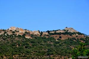 המבצר קלעת נמרוד ממבט דרומי לעבר ההר