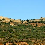 המבצר כולו על רכס ההרים הצמוד לחרמון