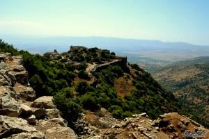 מבט לצידה הדרומי של המצודה ממגדל העוז הצפוני