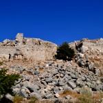 מבט אחרון אל מבצר נמרוד בחלקו הדרומי מערבי