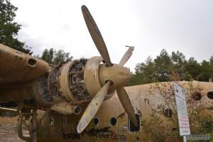 להבי הרוטור הימניים של מטוס הנורד 072 ביער המגינים