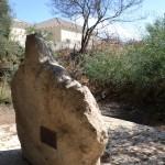 גלעד הסלע בצורת אדם במקום בו נהרגה מירה בן ארי