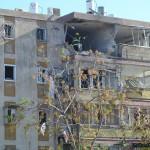 מבט כללי לבניין הפגוע בקרית מלאכי