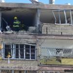 מבט ישיר לבניין הדירות הפגוע בקרית מלאכי