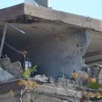 הרס מוחלט בבית המגורים שנפגע מגראד בקרית מלאכי