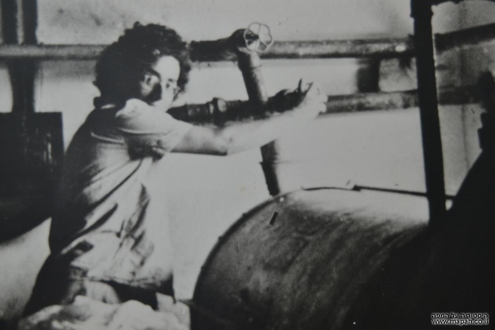 אסתר , עובדת המכבסה שהיתה בסוד העניינים של מפעל הנשק