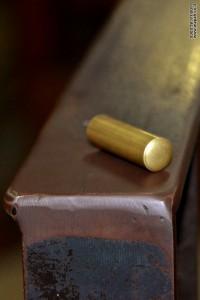 דוגמא לתרמיל קליע עבור תת מקלע סטן במכון איילון