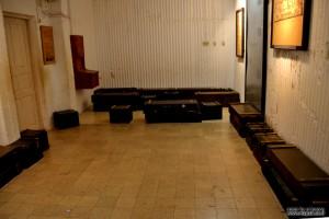 חדר אכסון התחמושת בטרם יועלה דרך פיר היציאה ויישלח ללוחמים