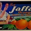 """פרסומת תפוזי JAFFA במוזיאון הפרדסנות ע""""ש מינקוב - צילום רפרודוקציה : אפי אליאן"""