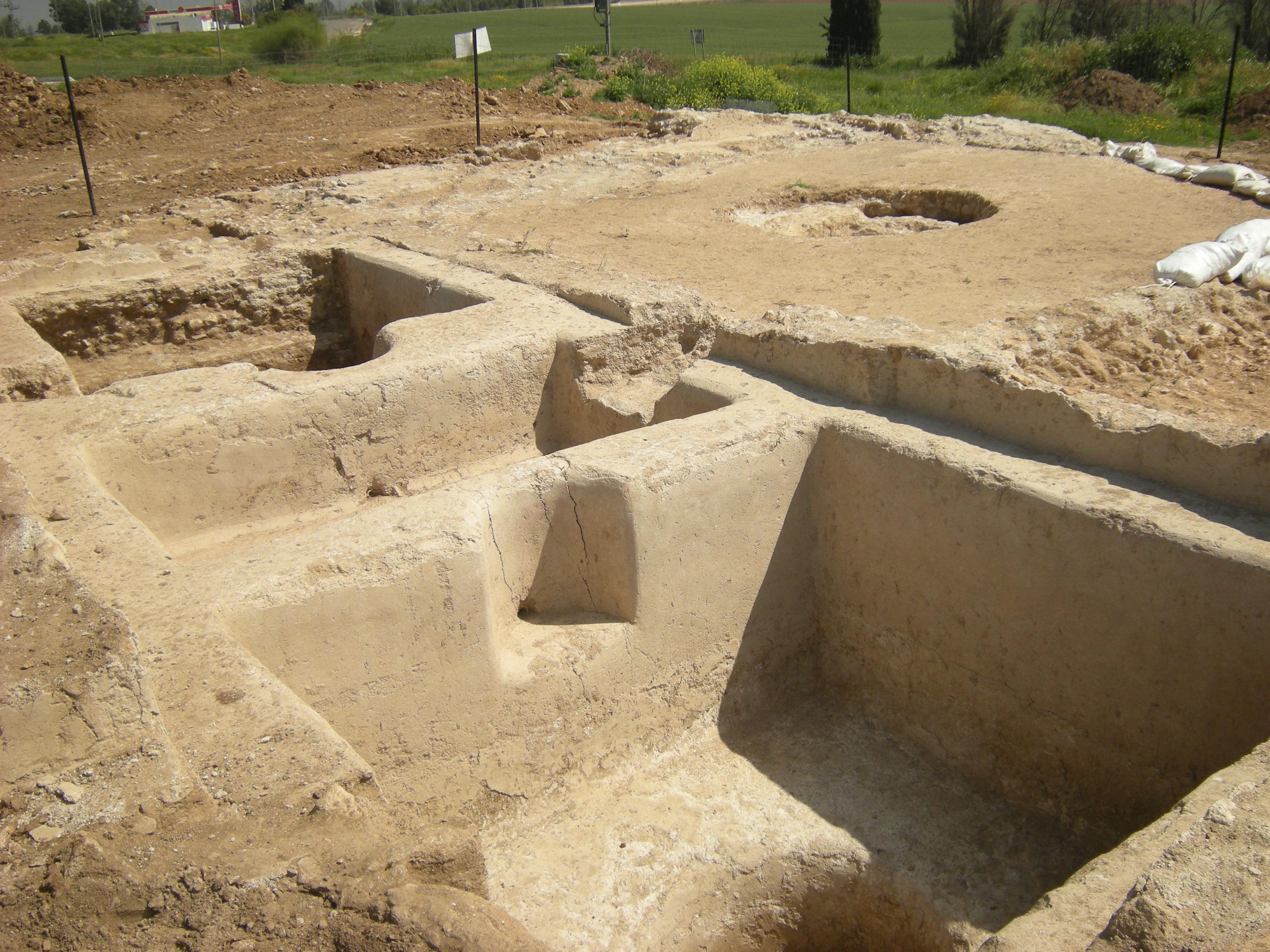 שרידי הגת שנמצאו ליד חמי יואב - צילום: סער גנור, באדיבות רשות העתיקות