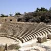 חלקו התחתון של האמפי תאטרון ששרדו את רעידת האדמה
