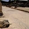 רצפת הפסיפס בסטיו שליד הסיגמה בתל בית שאן
