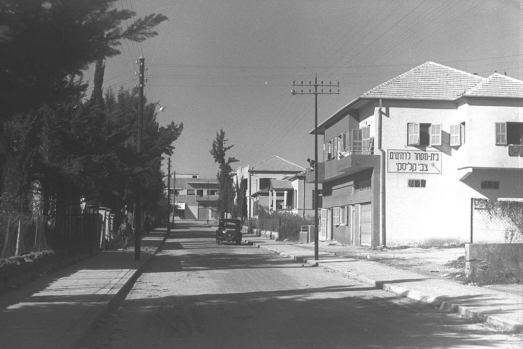 שכונה במושבת ראשון לציון - צולם ב-1937 - צילום: Zoltan Kluger