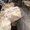 אחת מתעלות נקבת השילוח בעיר דוד - צילום: אפי אליאן