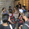 קבוצת ויקיפדים בכניסה למעין הגיחון בעיר דוד - צילום: אפי אליאן