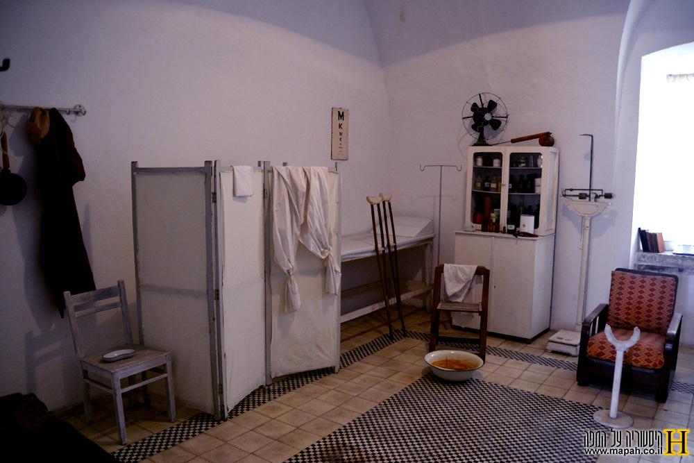 המרפאה במוזיאון אסירי המחתרות - צילום: אפי אליאן